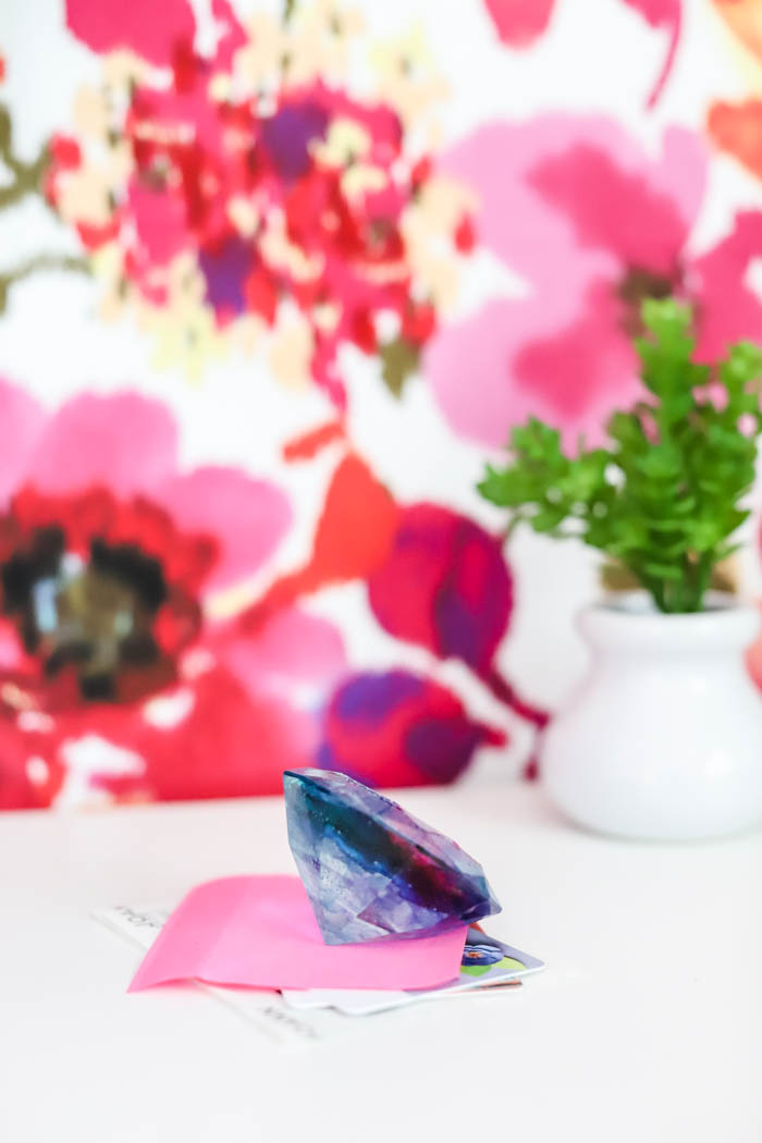 colorful diamond paperweight