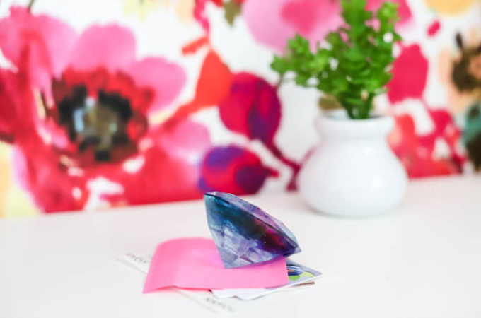 beautiful and colorful resin paperweight diamond