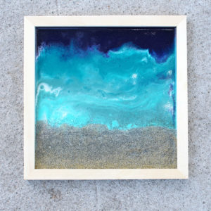 Beach Inspired Poured Resin Wall Art DIY
