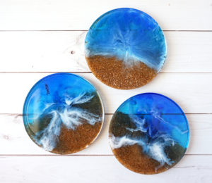 Resin Beach Coasters