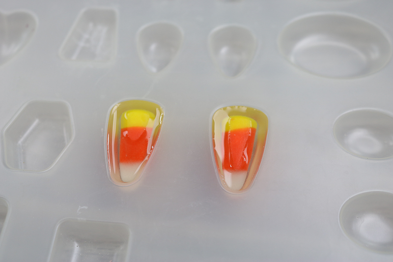 adding candy corn to resin