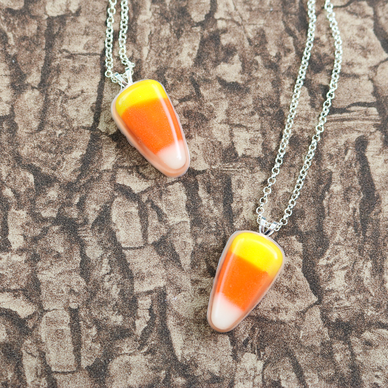 fall candy corn necklace