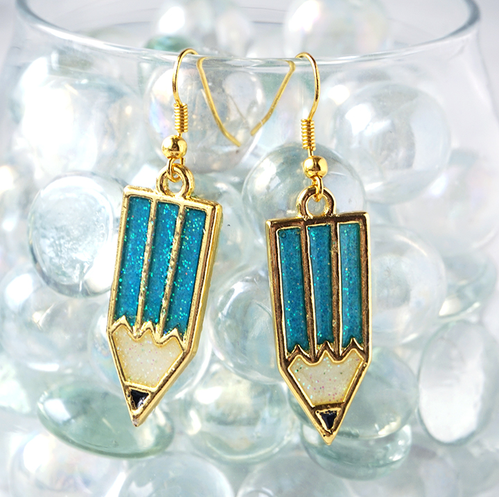 Pencil Charm Earrings
