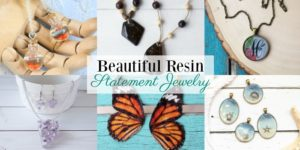 Beautiful DIY Resin Statement Jewelry
