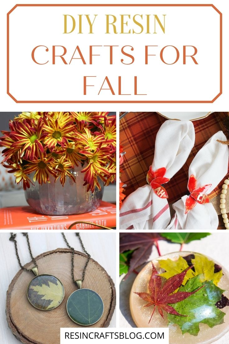 resin crafts for fall pin collage with text overlay