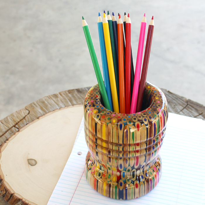 Craft: Make A Resin Colored Pencil Vase DIY
