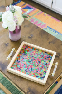 Resin Confetti Tray