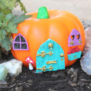 Fairy Garden Pumpkin House with FastCast Resin
