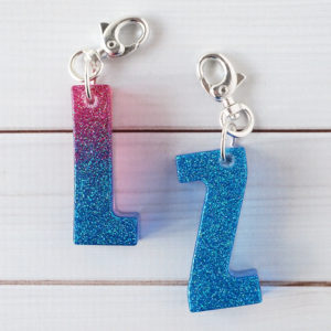 Resin Letter Keychains