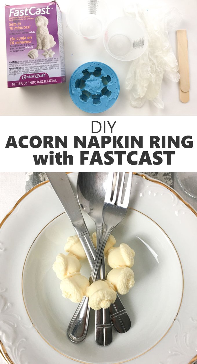 DIY acorn napkin ring