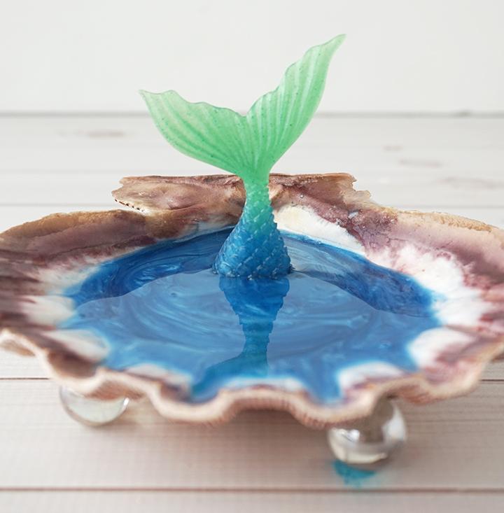 Mermaid Jewelry Dish resin curing