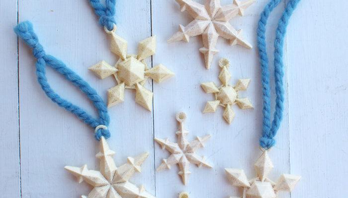 Snowflake Pendant FastCast Resin Necklace DIY