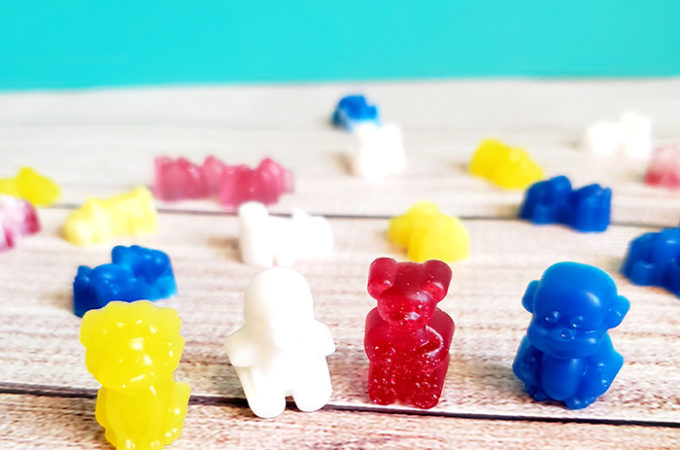 Colored resin molds