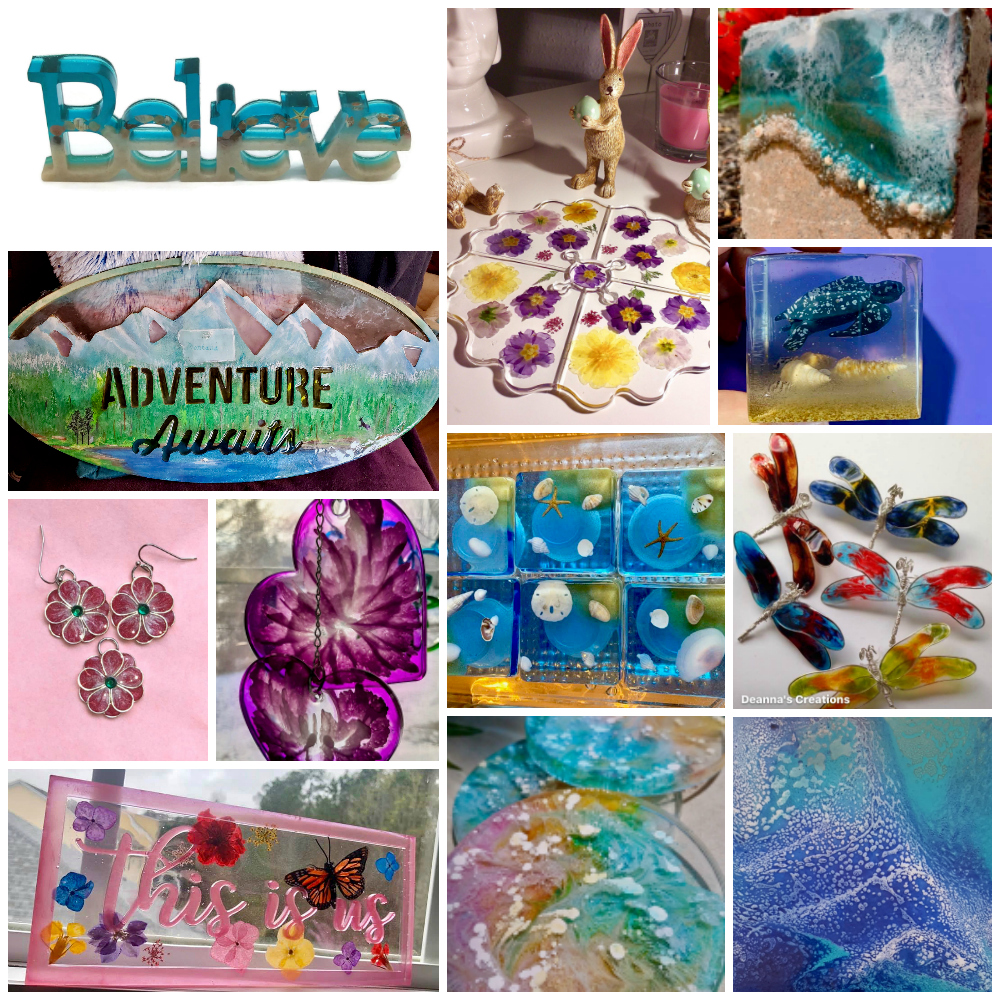 March Resin Crafting Challenge roundup