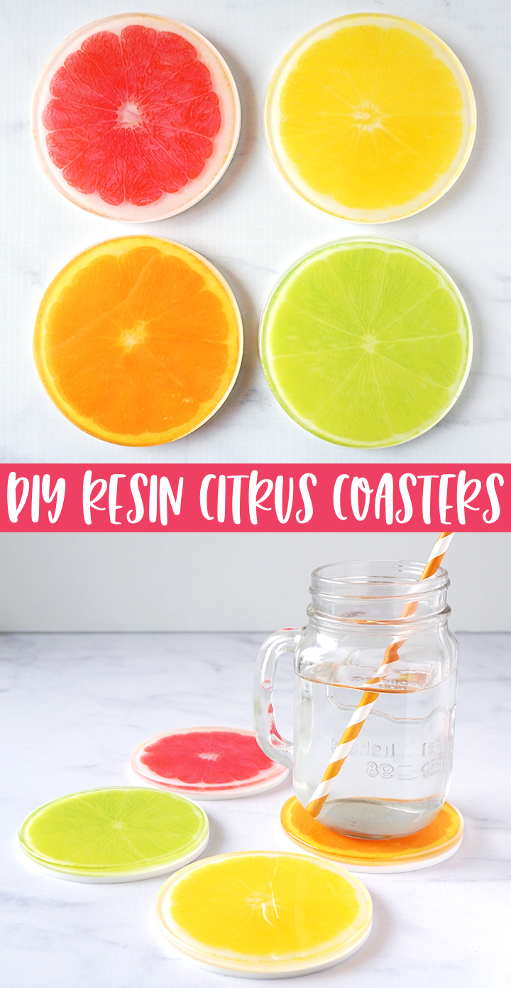 DIY Resin Citrus Coasters