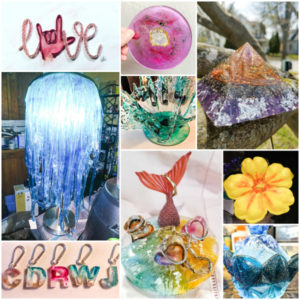 April resin crafting challenge projects