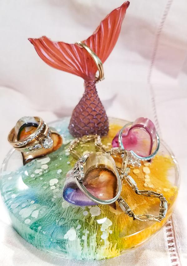 Mermaid Resin Jewelry Dish