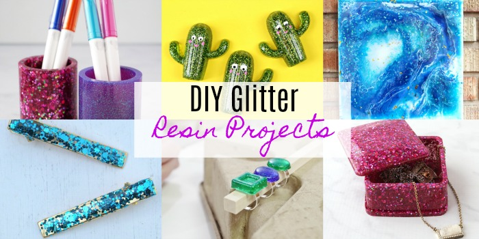 DIY Glittered Resin Projects
