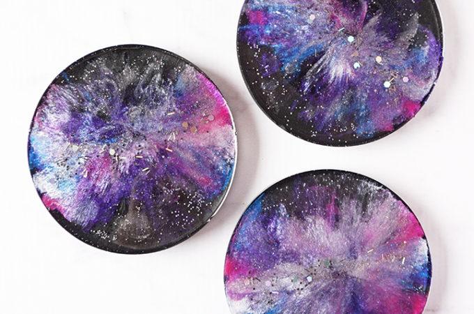 DIY Resin Galaxy Coasters