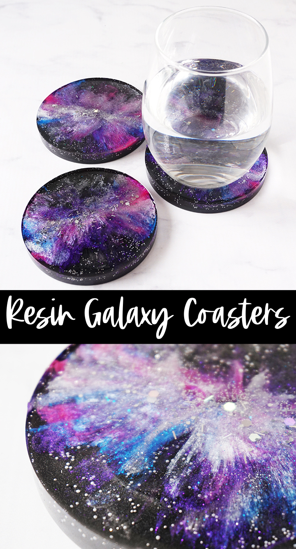 Resin Galaxy Coasters