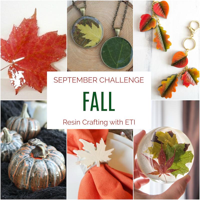 September resin crafting challenge
