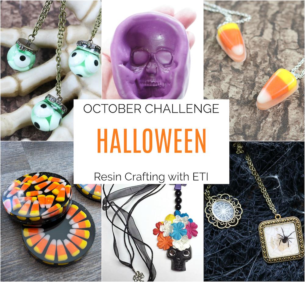 Halloween resin crafting challenge