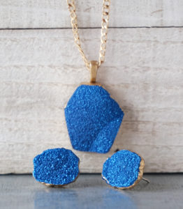 Faux Druzy Resin Jewelry