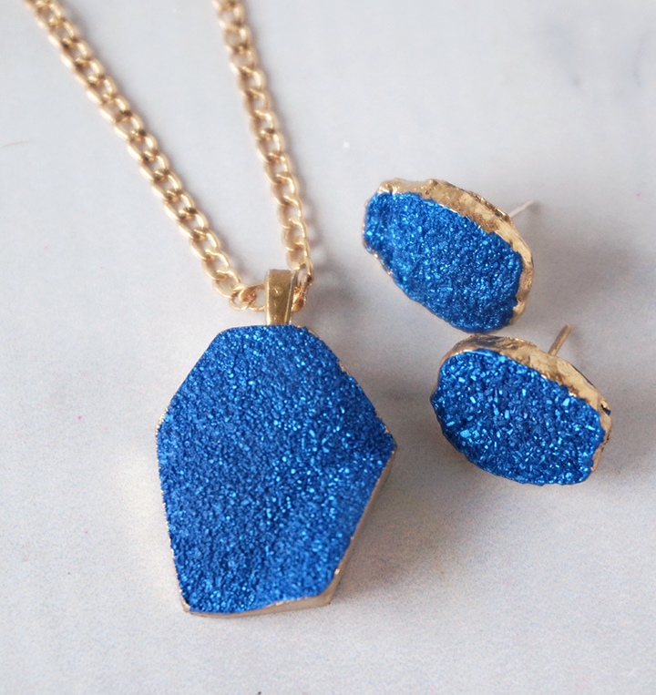 Faux Druzy Resin Jewelry Set
