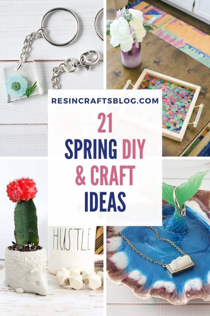 spring diy and crafts collage