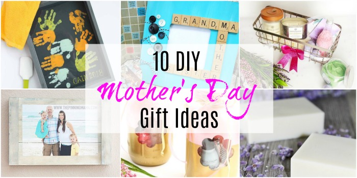 mother's day diy gifts collage with text overlay