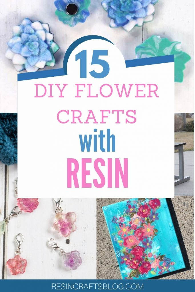15 diy flower crafts with resin pin image