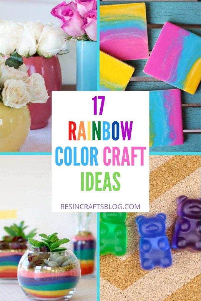 rainbow color craft ideas with text