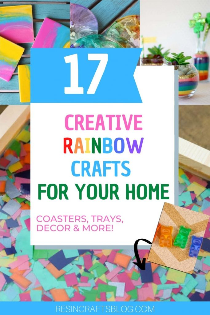 creative rainbow crafts pin image with text