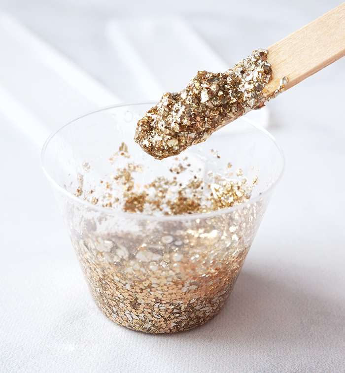 EasyCast Resin mixed with gold glitter