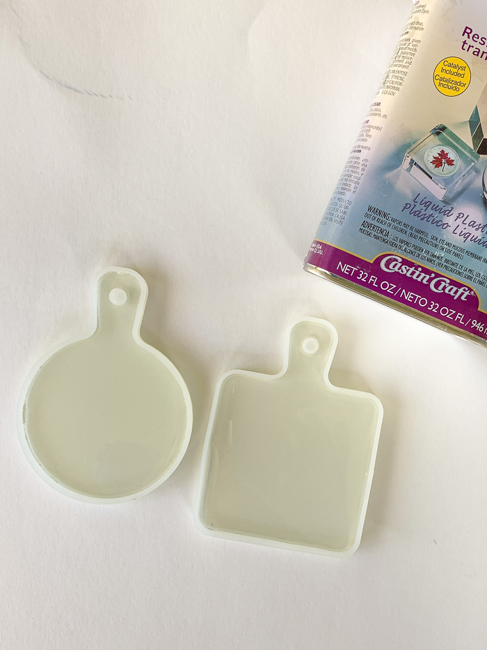Pour the Castin' Craft resin into silicone molds.