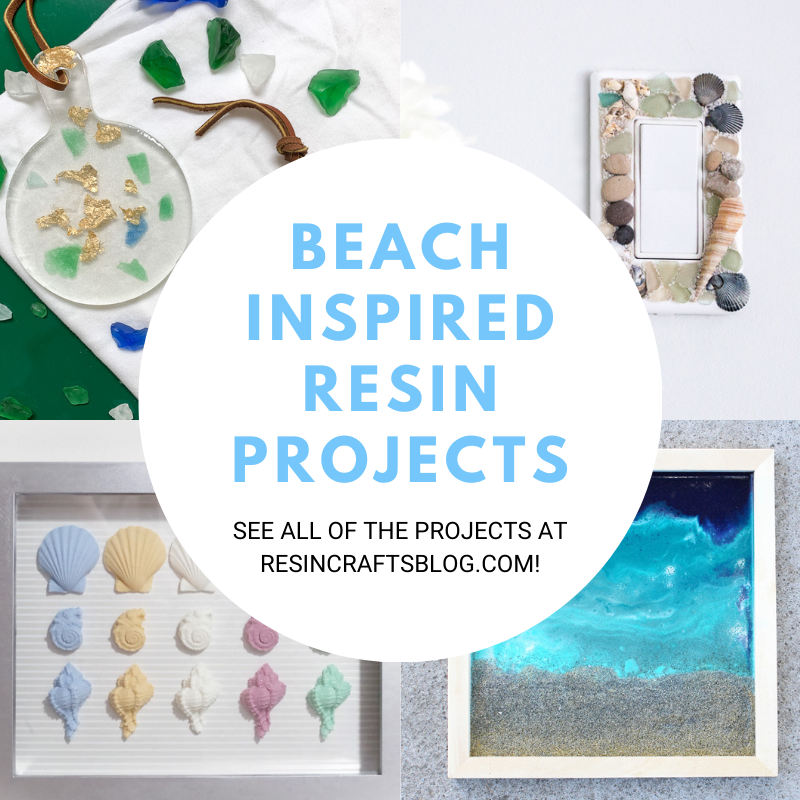 beach inspired resin projects collage feature image