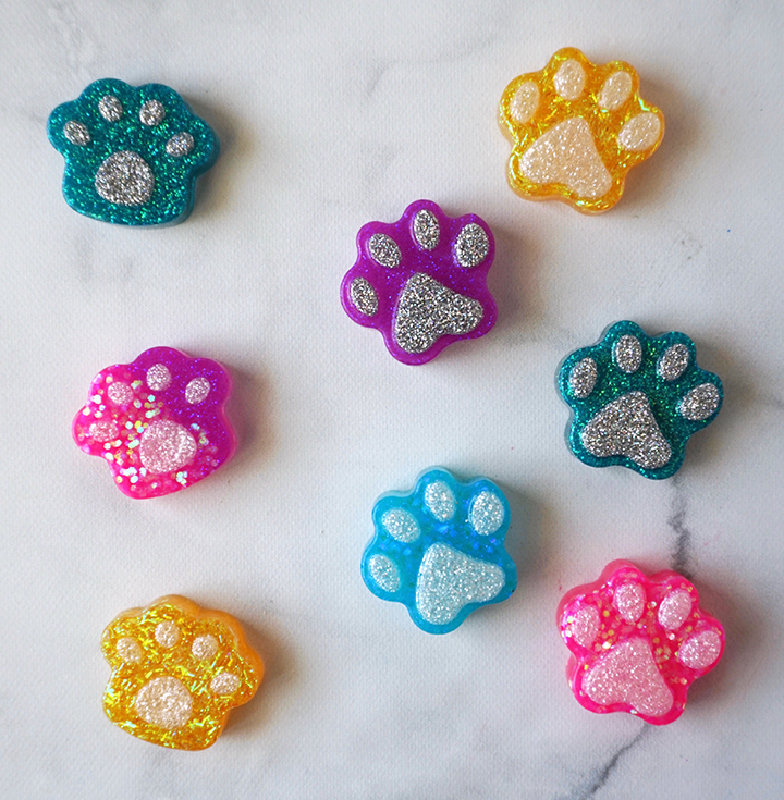 Dog and Cat Paw Resin Pieces