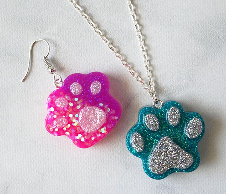 Resin Paw Jewelry