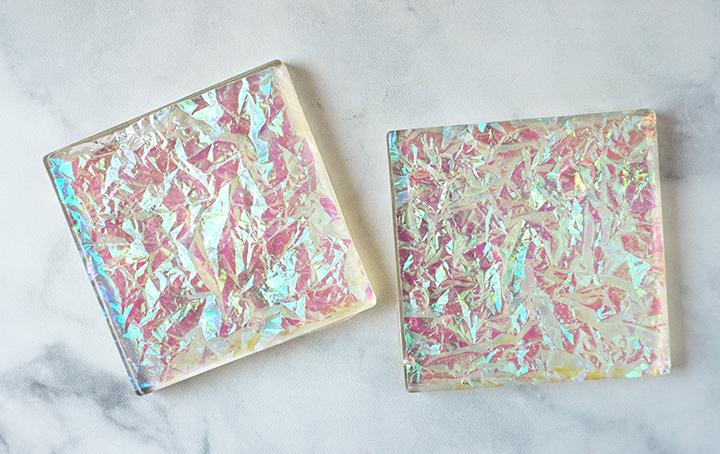 Resin Iridescent Coasters