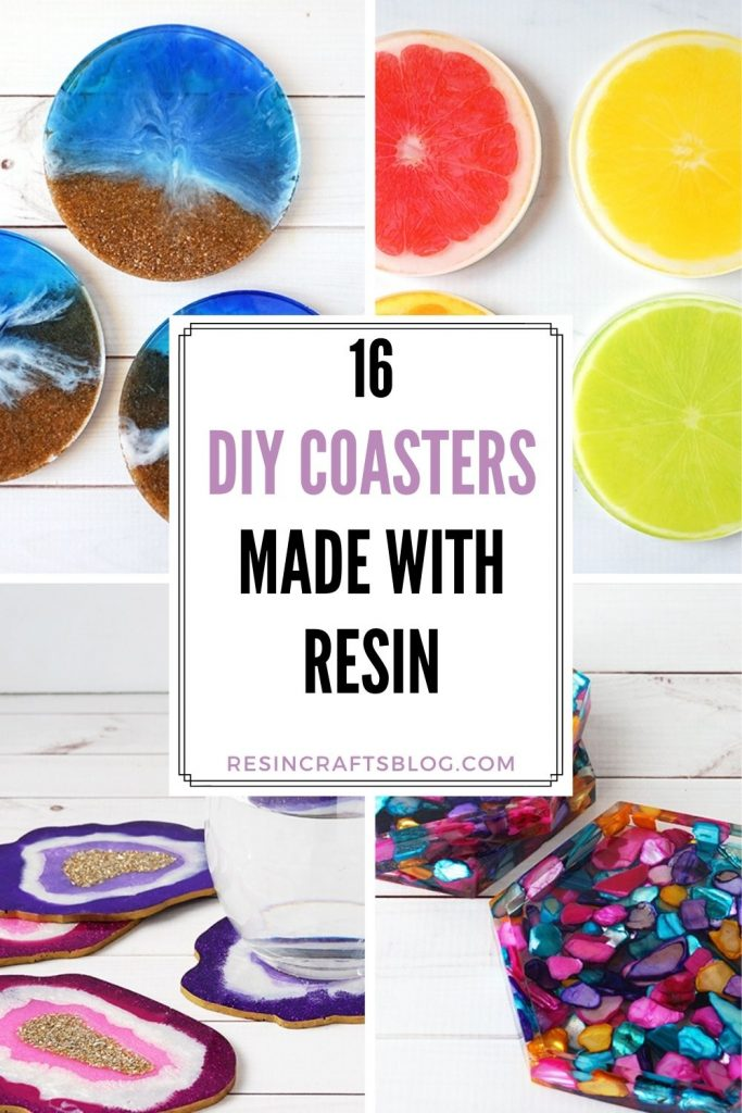 resin coasters pin collage with text overlay